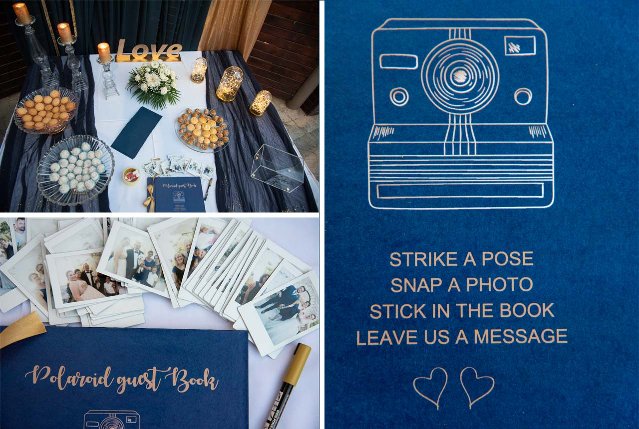 #wedding decoration #wishes table #nafplio #blue navy #polaroid