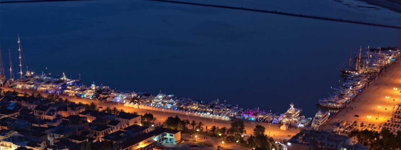6th Mediterranean Yacht Show, 6th Medys Nafplio night view