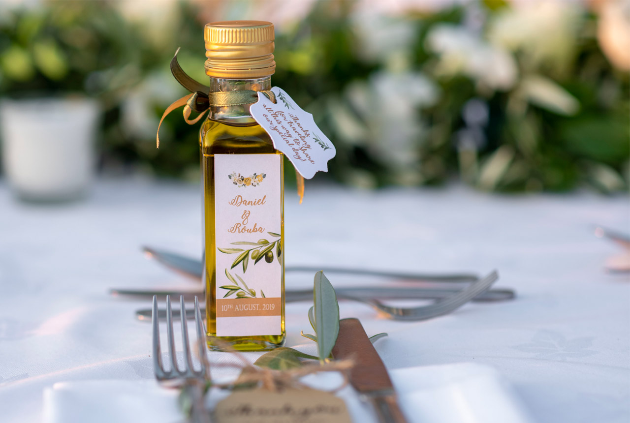 wedding decoration, wedding planning, greece, olive, guest favor