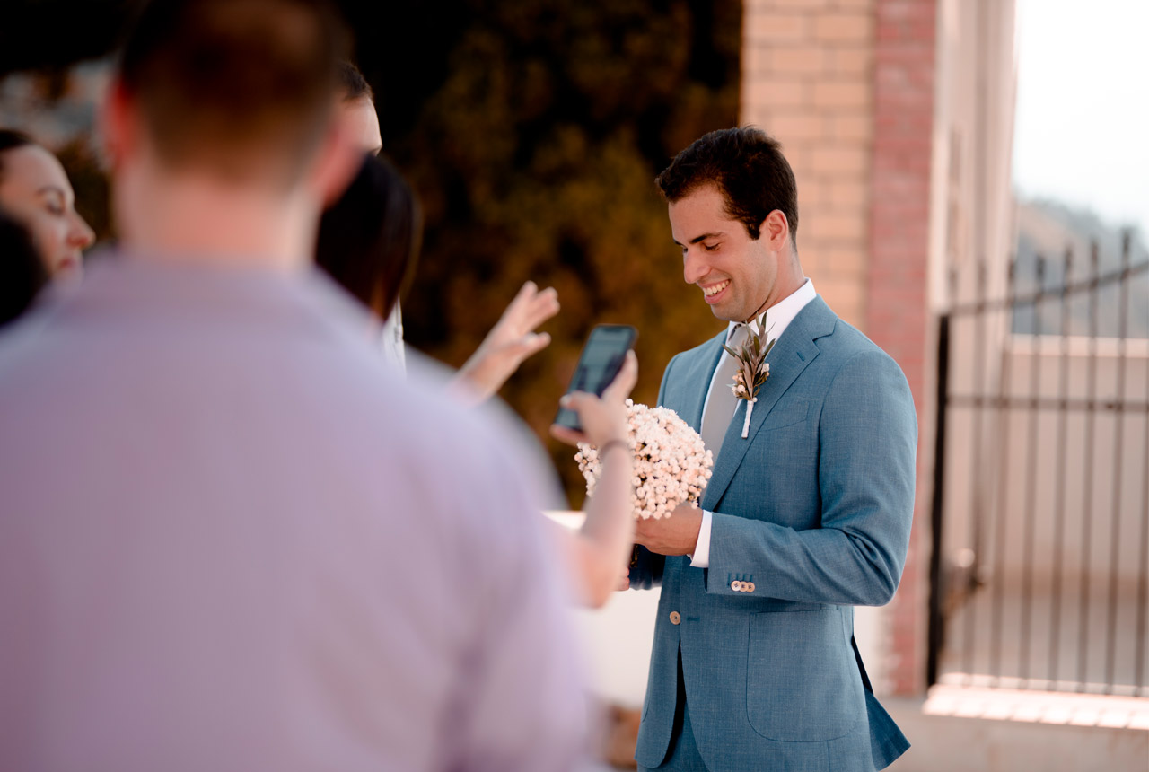 wedding ceremony, wedding planning, destination wedding, groom awaiting the bride